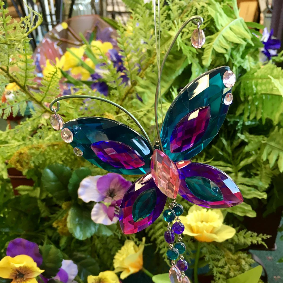 butterfly, acrylic, stained glass, window art, gifts, crystal expressions