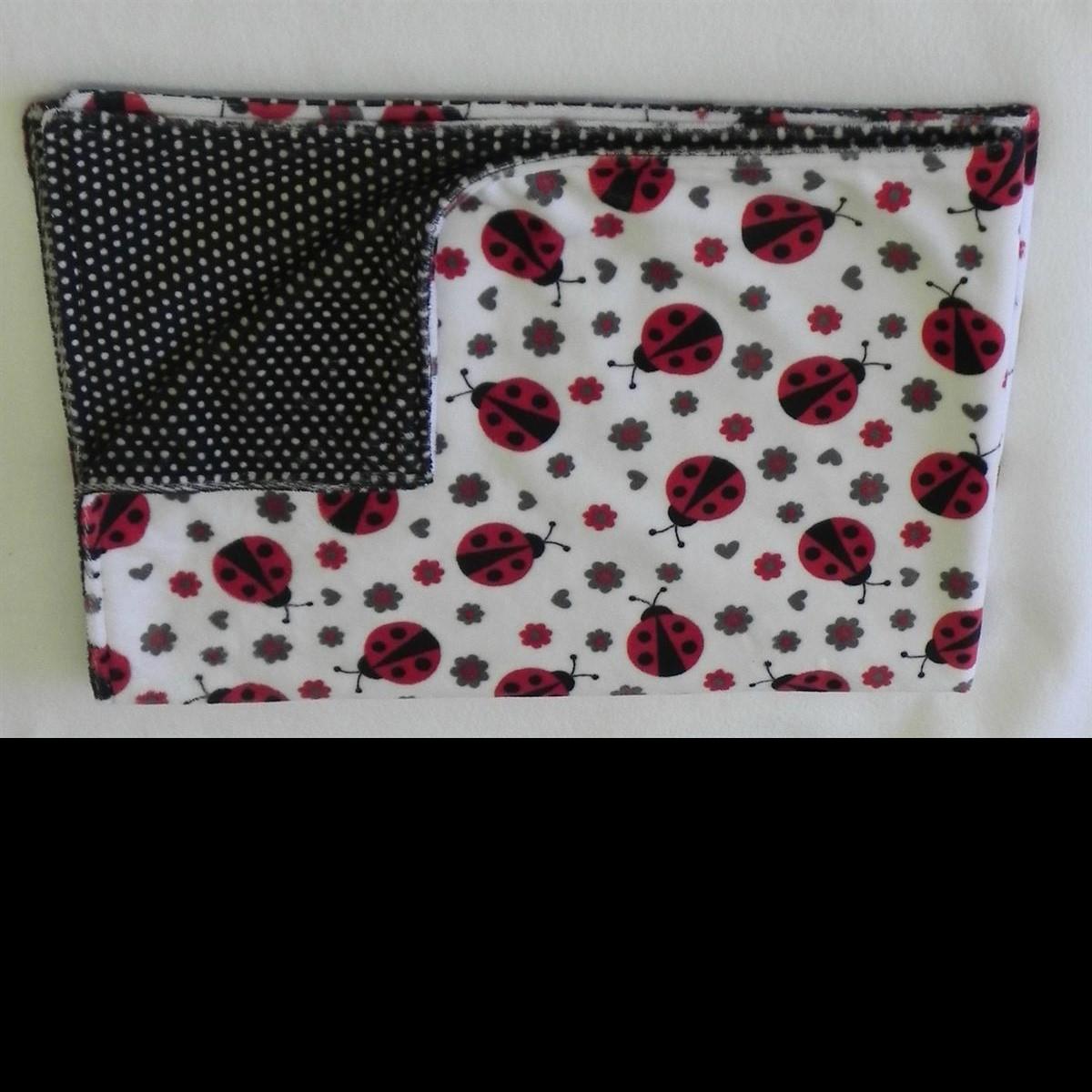 ladybug_minkee_polka dot_blanket