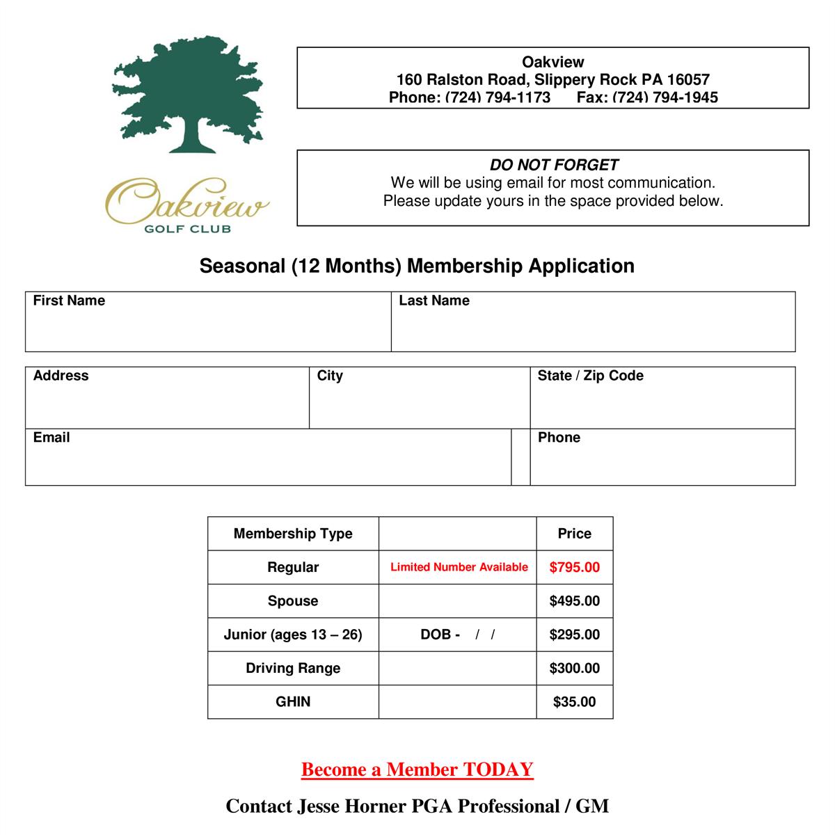 2017 membership application