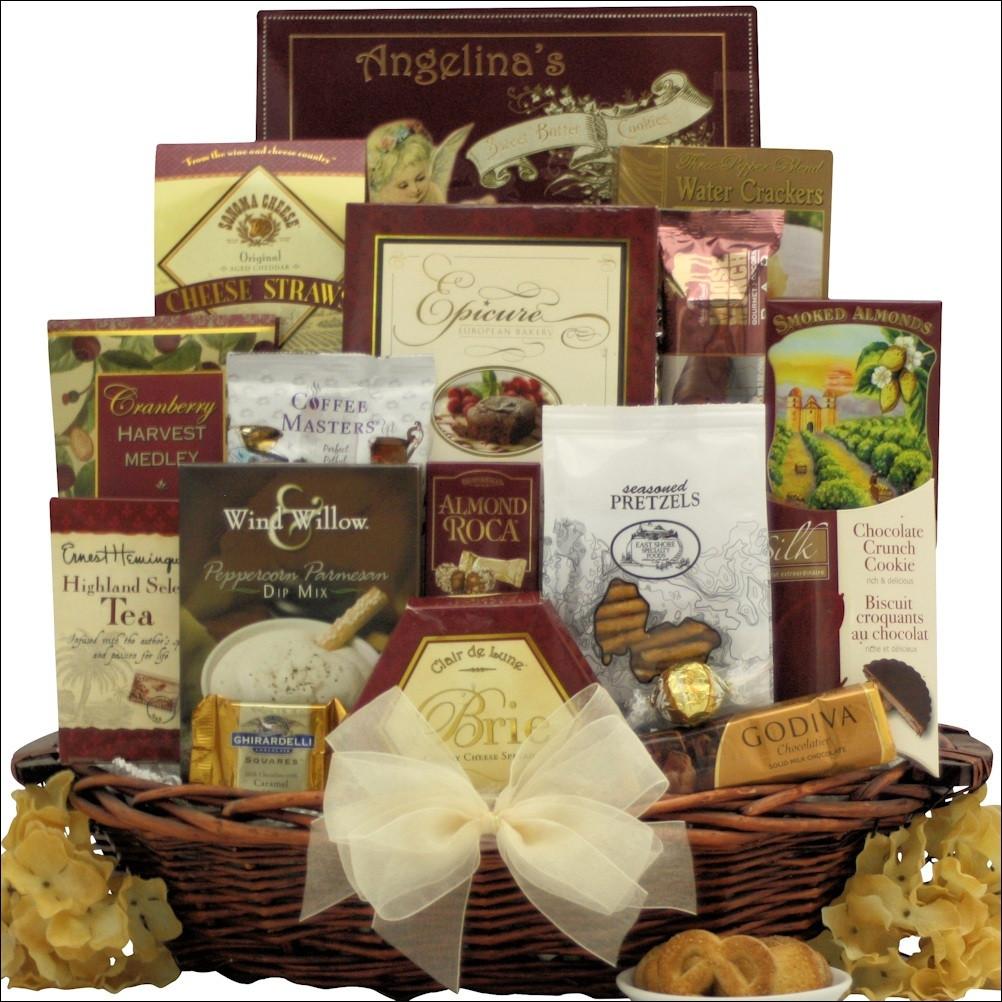 distinct impressions thank you gift basket | basketfull gift baskets