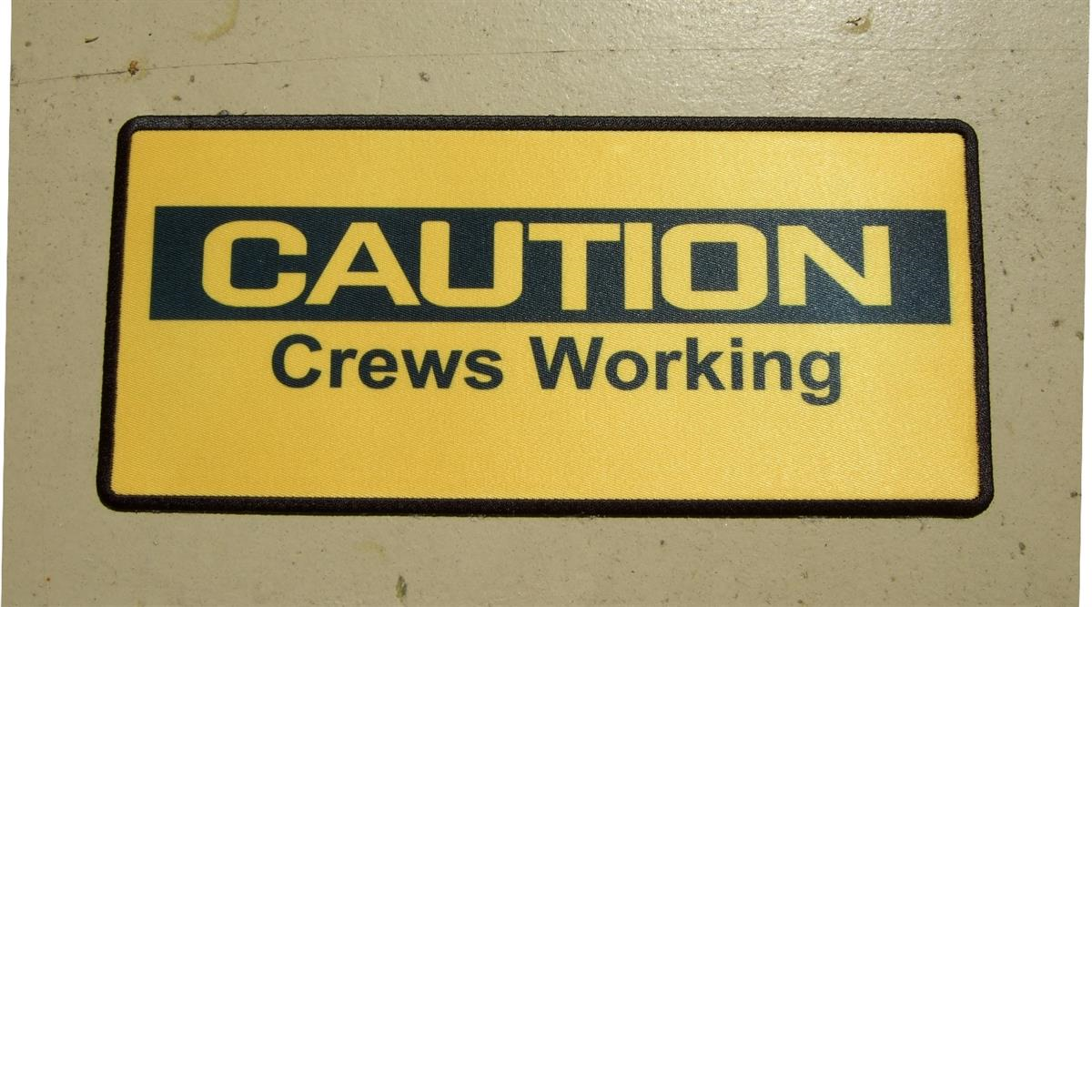 custom caution crews working patch