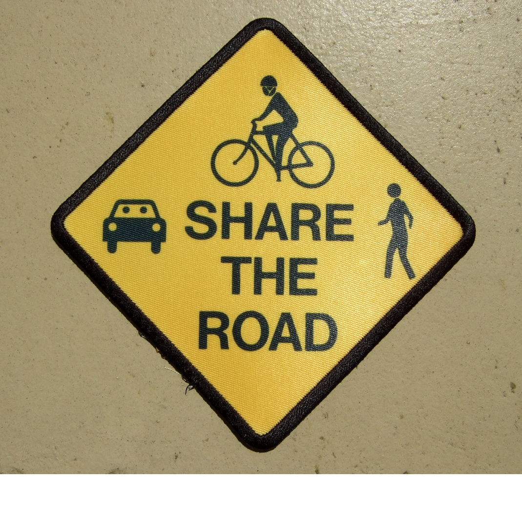 custom share the road patch