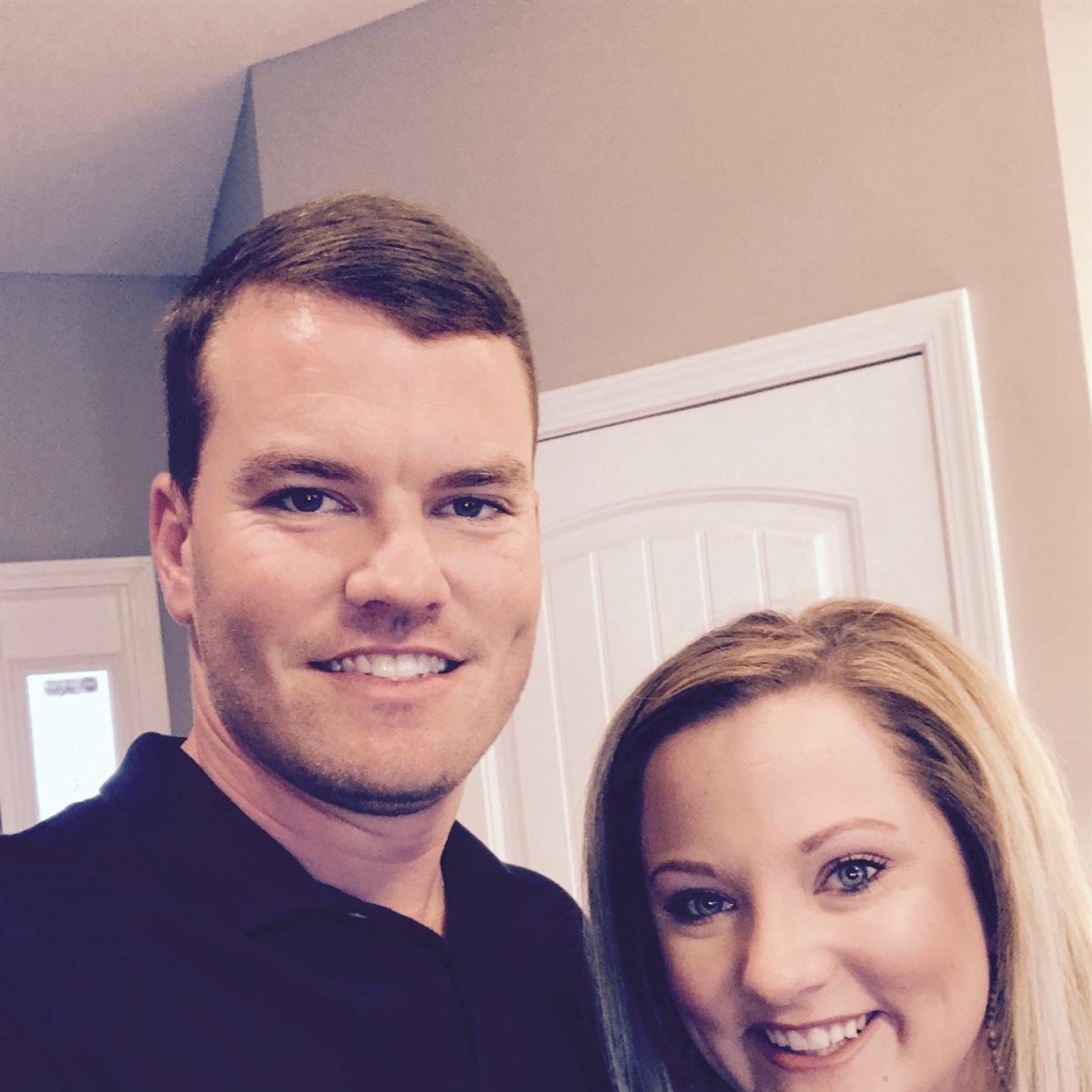 Josh Harrell and Allison Little