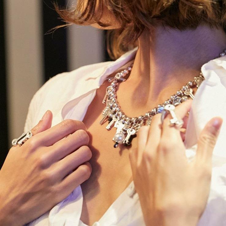 uno de 50, silver, necklace