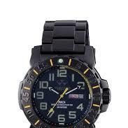 REACTOR Trident 2 black coated sport watch