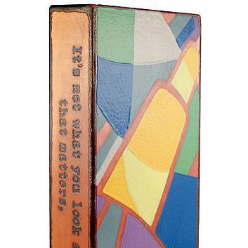 artist Houston Llew,Spiritiles, Interpretation, Henry David Thoreau, glass sculpture, life quotes, story art, USA made
