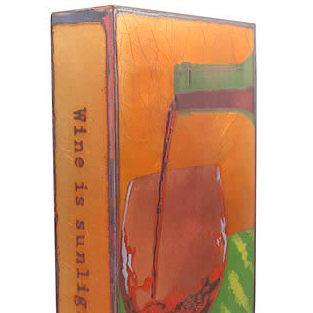 artist Houston Llew,Spiritiles, Liquid Sunshine, wine, glass sculpture, life quotes, story art,