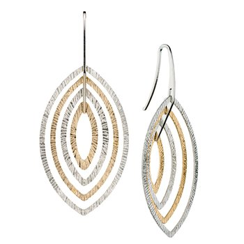 Sterling Silver Two-Toned Earrings