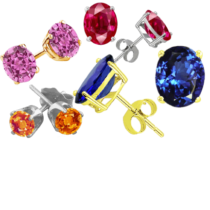 colored gemstone earrings