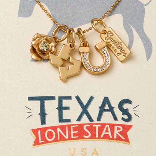 Charm Necklace Texas