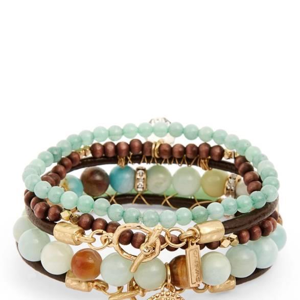 5 Row Gem Stone Bracelet