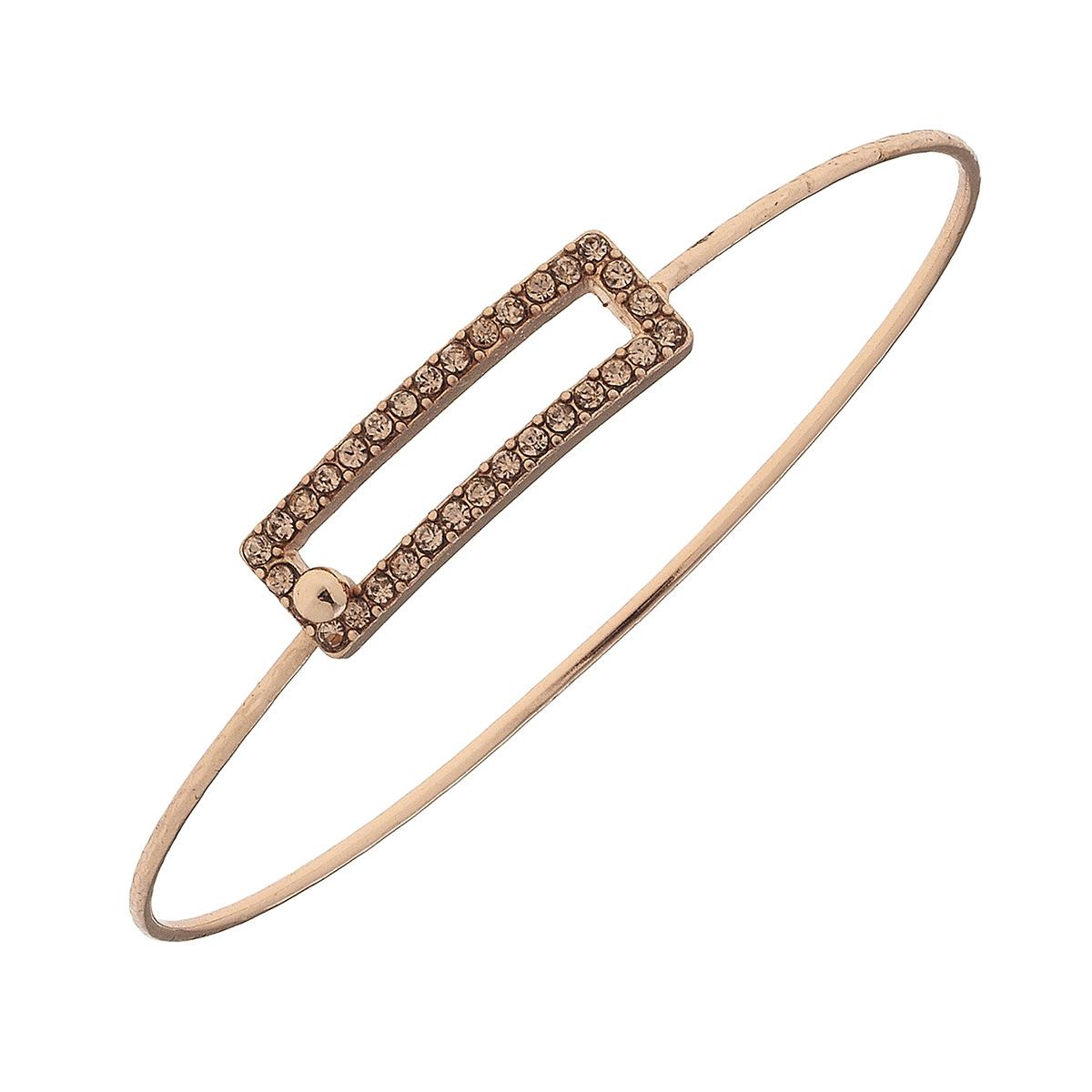 Pave Open Rectangle Bracelet