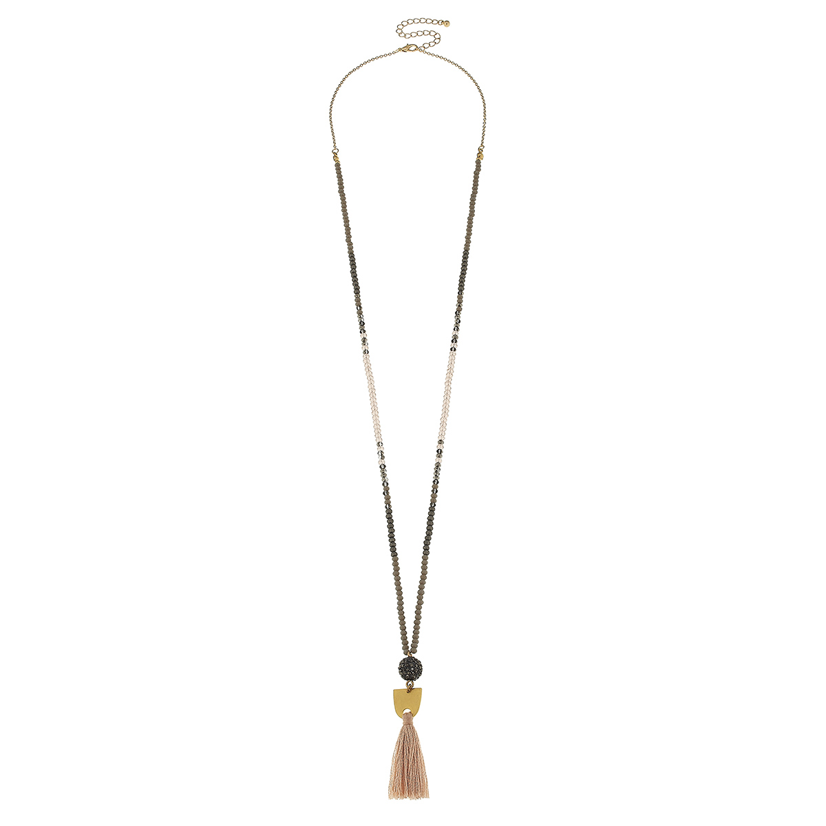Ball and tassel drop necklace