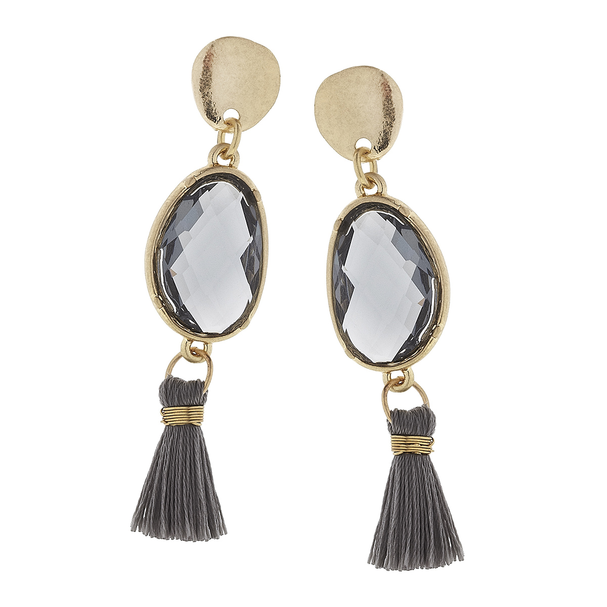 Black Diamond Tassel Earrings