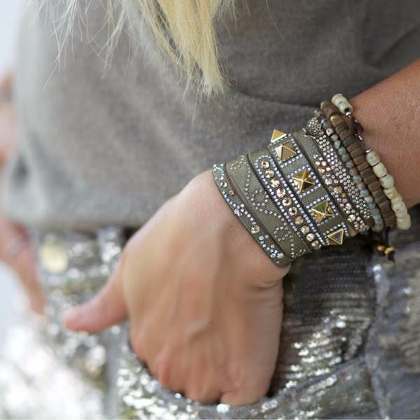 Paris Bracelets Les Interchangables Swarovski crystal high fashion