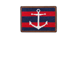 ImageSmathers & Branson Striped Anchor Credit Card Wallet