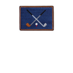 Smathers & Branson Crossed Clubs  Credit Card Wallet Golf
