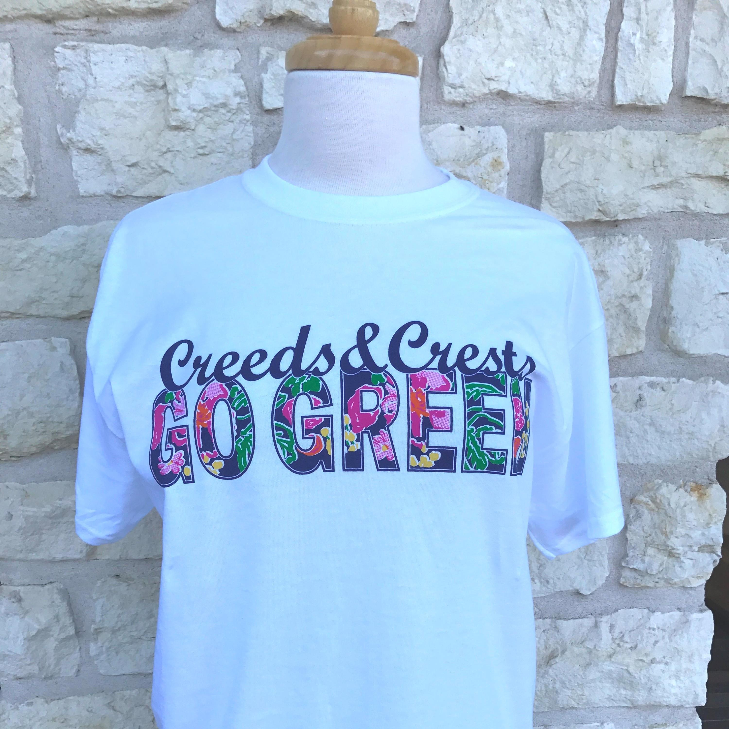 Go Greek Creeds and Crests Free Sorority T shirt