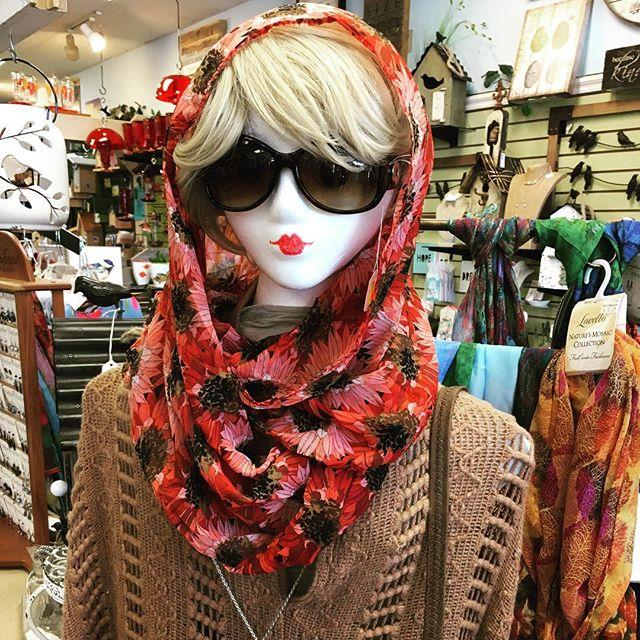 fashion, scarf, vest, layers, poncho, fall, floral