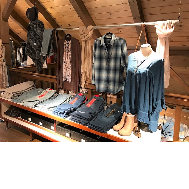 apparel in store display at Abigails Aurora oh