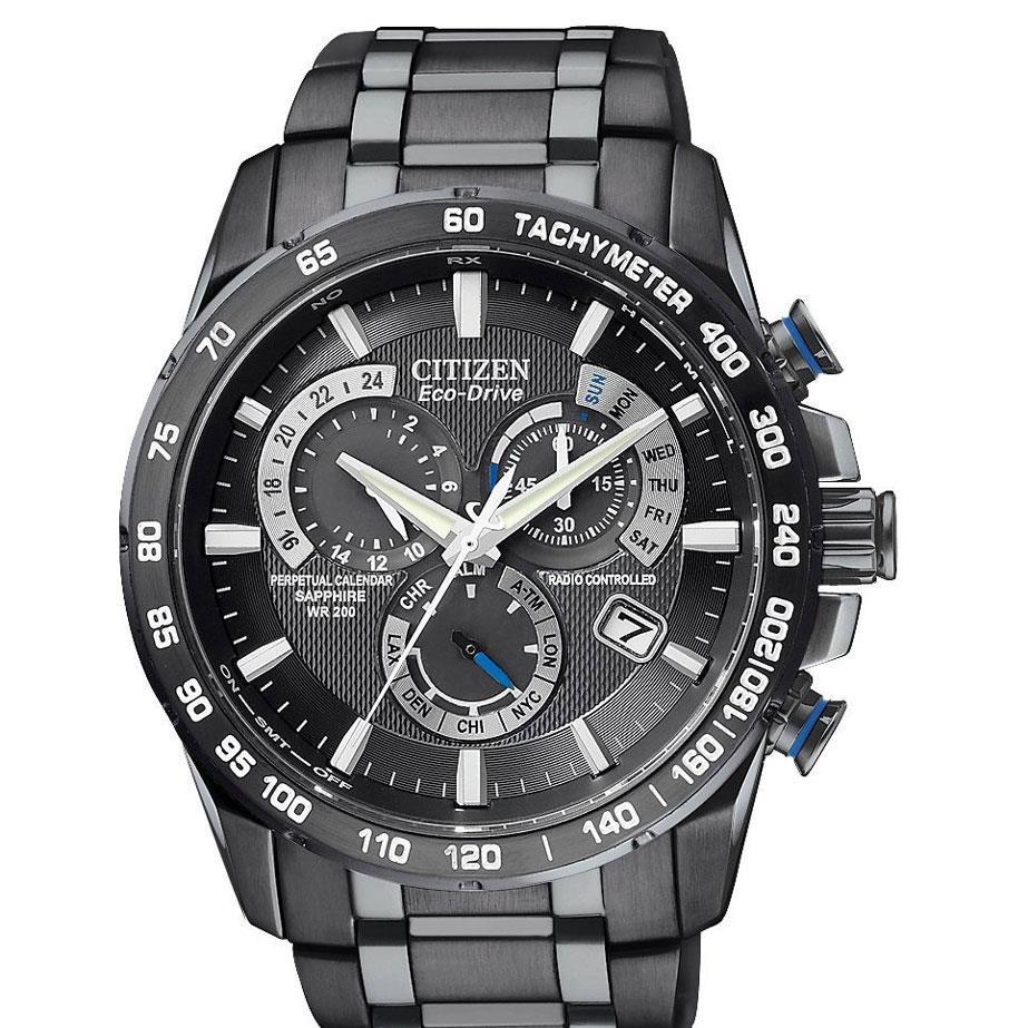 CitizenAT4007-54E atomic radio control perpetual calendar chronograph watch