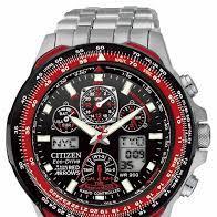 Citizen JY8059-57E atomic perpetual calendar Red Arrows Eco Drive chronograph watch