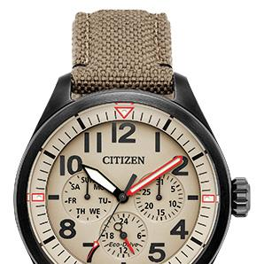 Citizen BU2055-08X Eco Drive military style watch