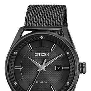Citizen BM6988-57E Eco Drive black mesh engravable watch