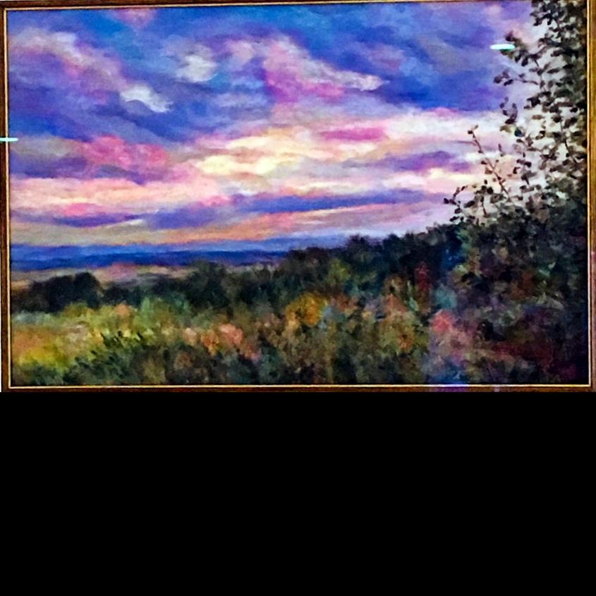fine art painting, original art, Caroline Young, pastel painting, landscape,