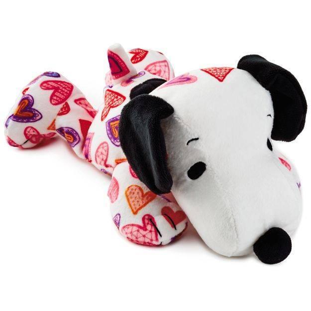 Peanuts Snoopy Heart Print Floppy Stuffed Animal 10 5 Feeney S